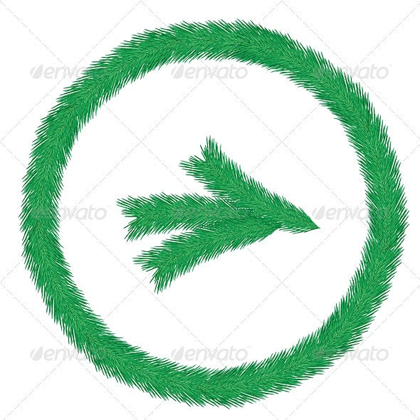 Christmas wreath of fir twigs  - Characters Vectors