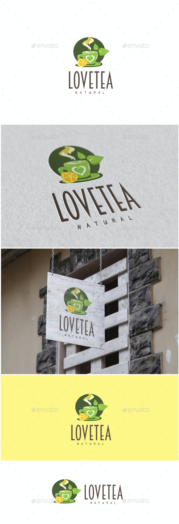 Love Tea Logo - Food Logo Templates