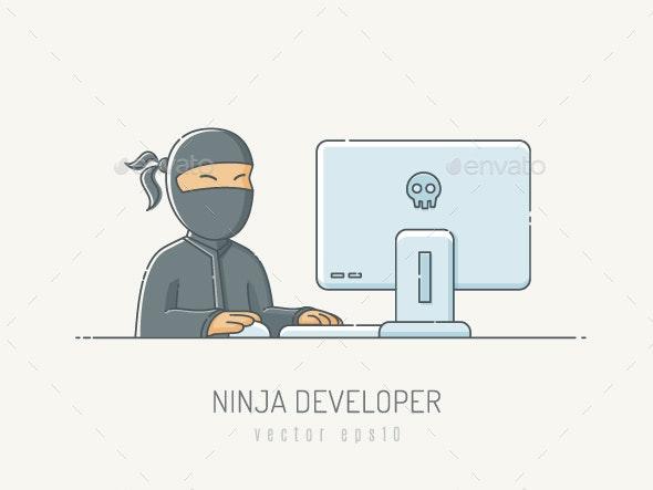 Ninja Developer - People Characters