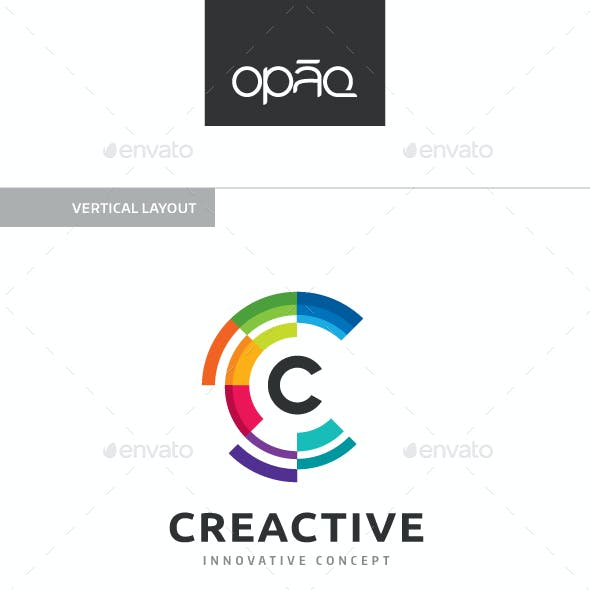 Colorful C Letter Logo