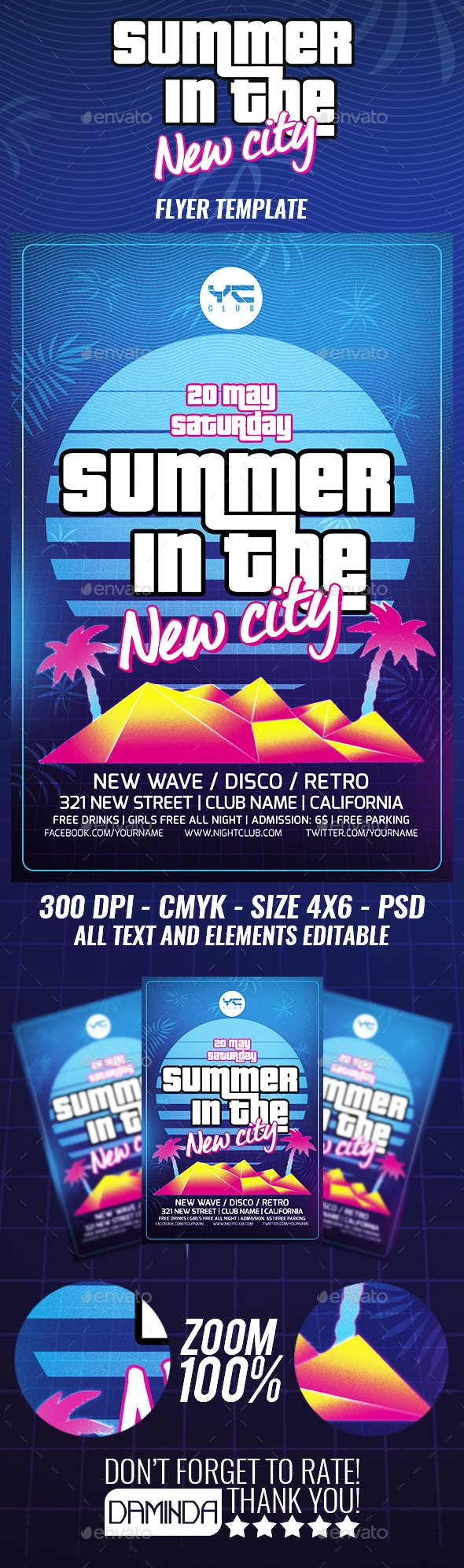 Summer in The New City Flyer - Clubs & Parties Events