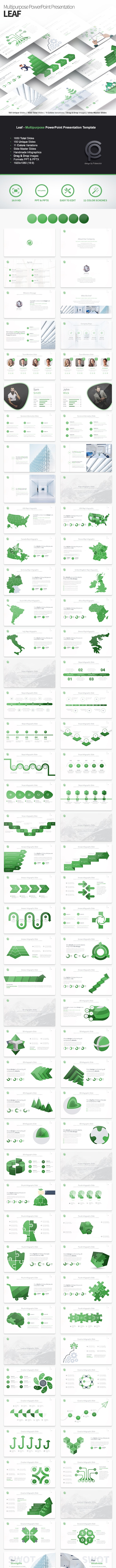 Leaf - Multipurpose PowerPoint Presentation Template - Business PowerPoint Templates