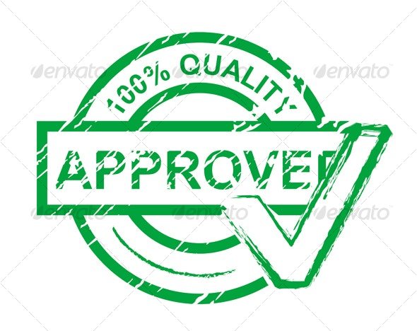 Check approved stamp - Decorative Vectors
