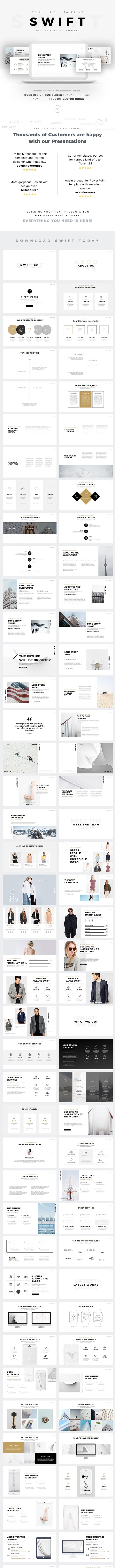 Swift Minimal Keynote Template Builder - Keynote Templates Presentation Templates