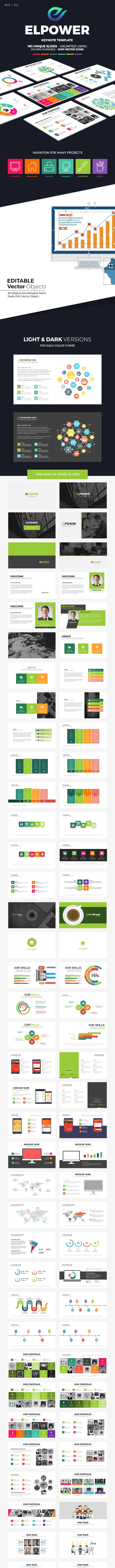 El Power Keynote Presentation Template - Creative Keynote Templates