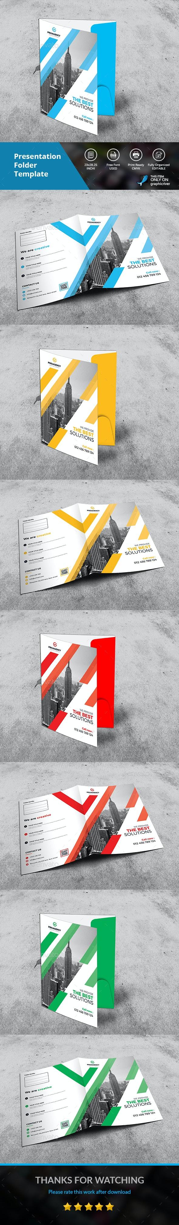 Presentation Folder - Signage Print Templates