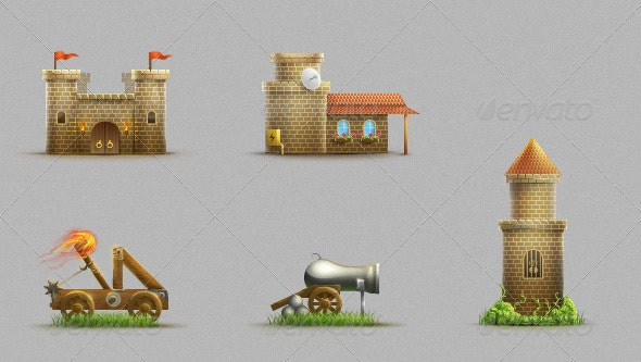 Castle Set - Objects Illustrations