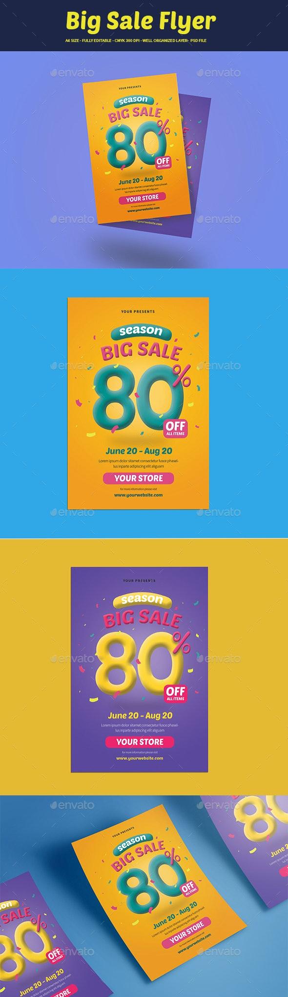 Big Sale Flyer - Flyers Print Templates