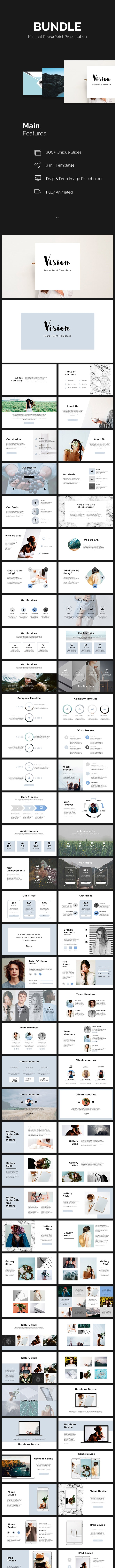 Bundle Minimal PowerPoint Template 3 in 1 - PowerPoint Templates Presentation Templates