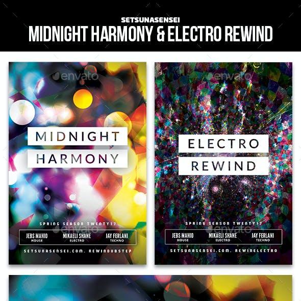 Midnight Harmony & Electro Rewind Flyer