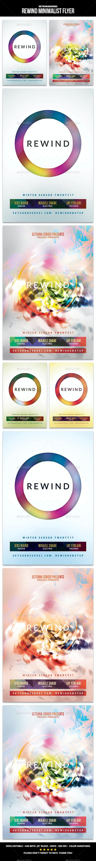 Rewind Minimalist Flyer - Clubs & Parties Events