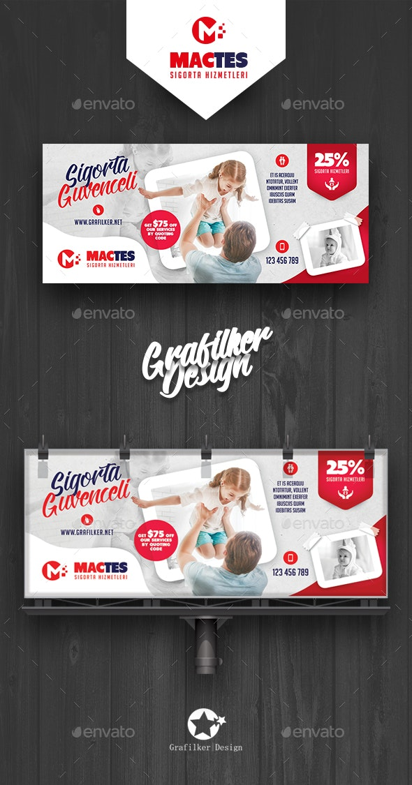 Insurance Billboard Templates by grafilker | GraphicRiver
