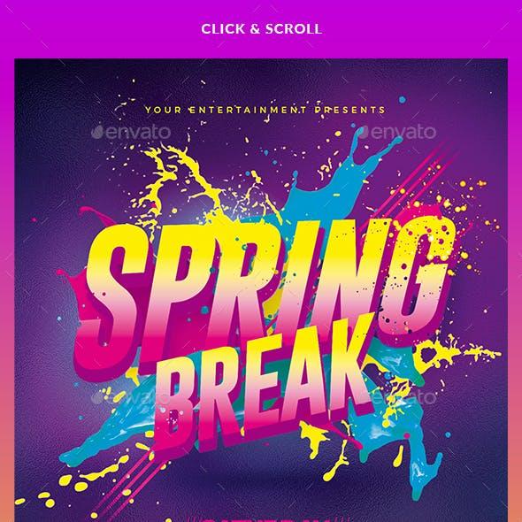 Spring Break Party | Flyer Template