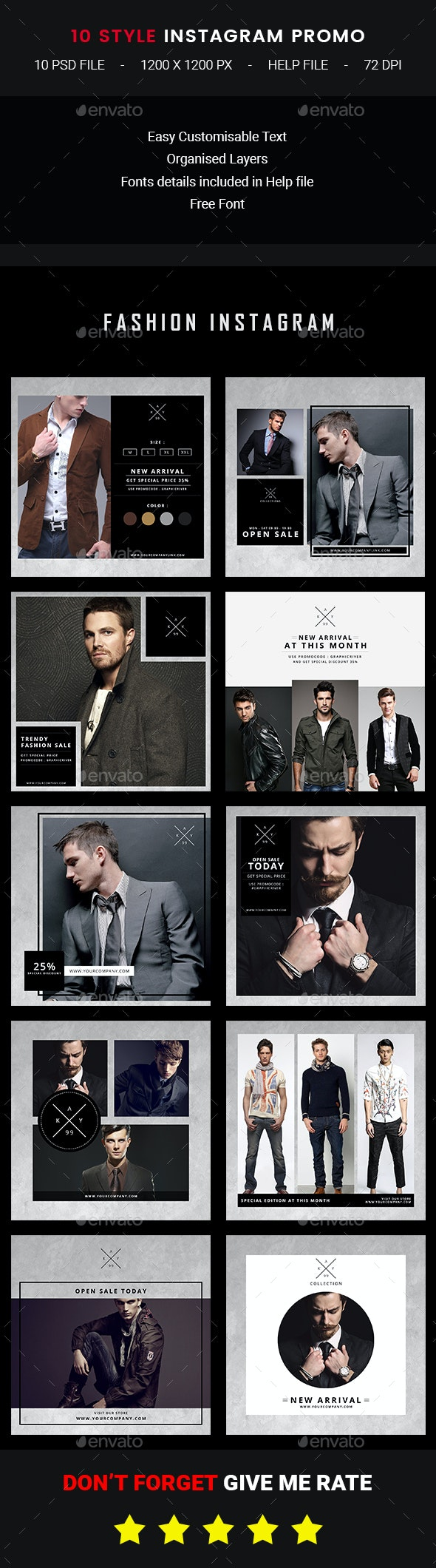 10 Instagram Fashion Promo - Banners & Ads Web Elements