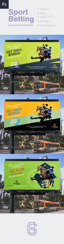 Betting Billboard Banner - Signage Print Templates