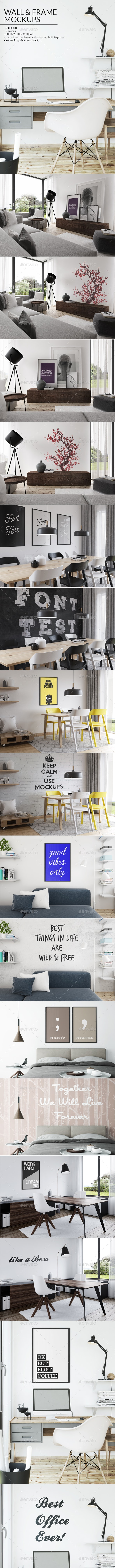 Art Wall & Frame Mockups - Posters Print