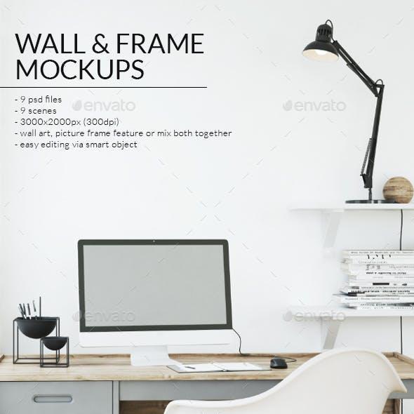 Art Wall & Frame Mockups