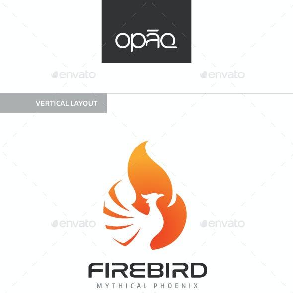 Fire Phoenix Bird Logo