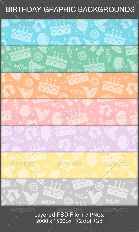 Birthday Graphic Background - Patterns Backgrounds