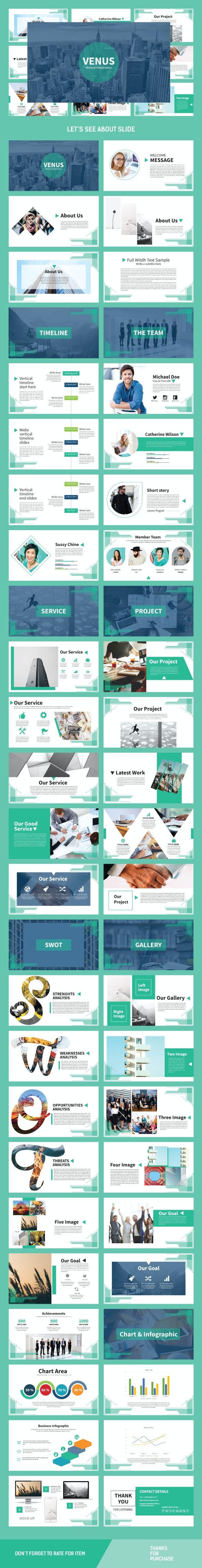Venus Multipurpose Template - Business PowerPoint Templates