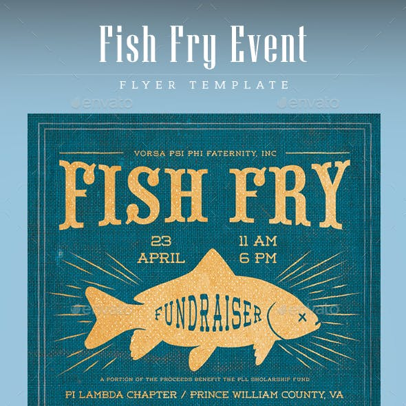 Fish Fry Event Flyer