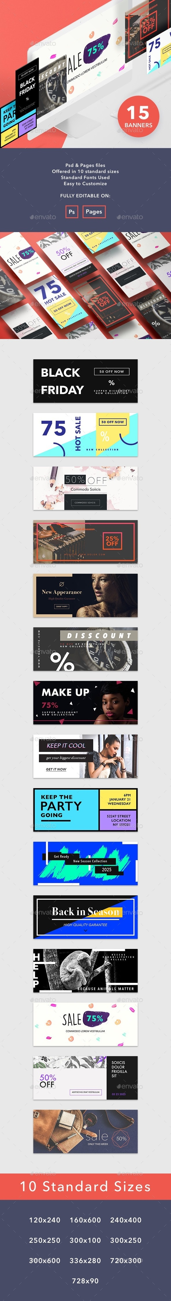 Business Banners Set - Banners & Ads Web Elements