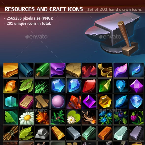 Resources and Craft Icon Pack