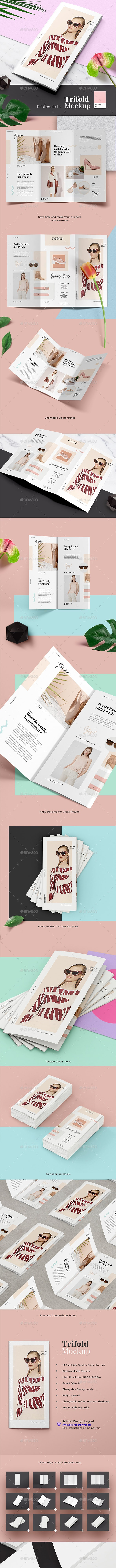 Fashion Trifold Mockup - Brochures Print