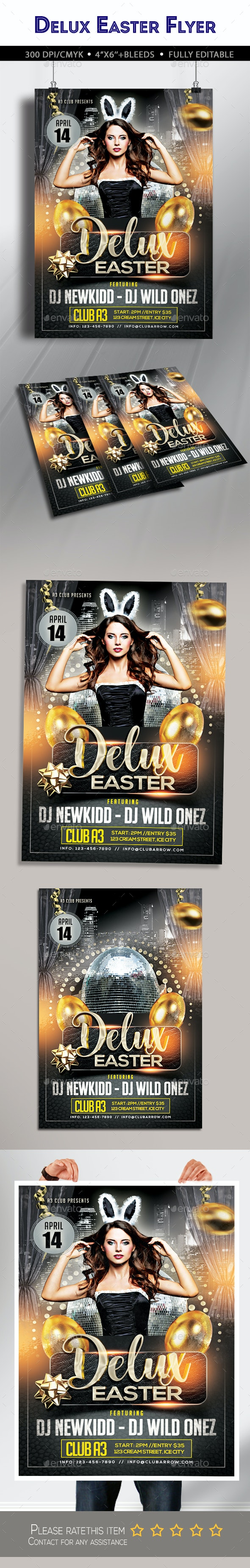 Delux Easter Flyer - Clubs & Parties Events