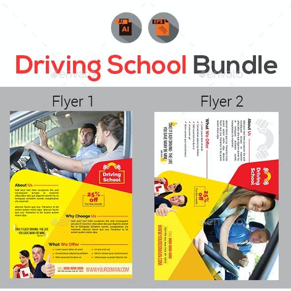 Driving School Flyers Bundle