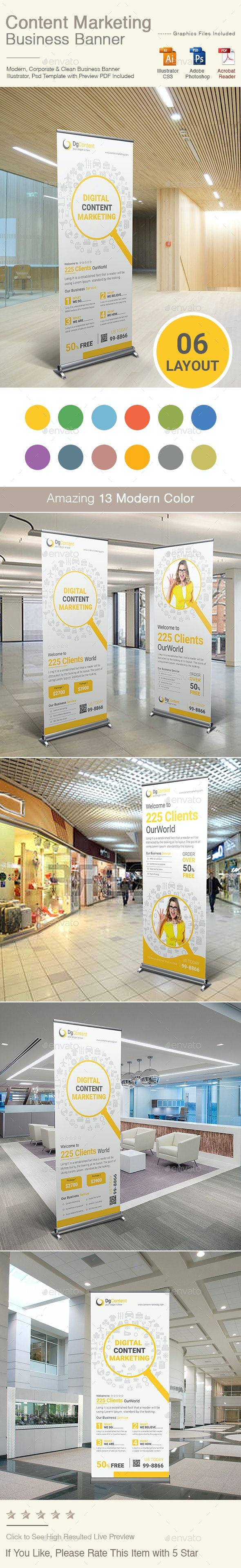 Content Marketing Banner - Signage Print Templates