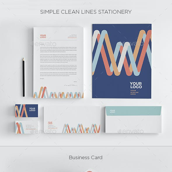 Simple Clean Lines Stationery