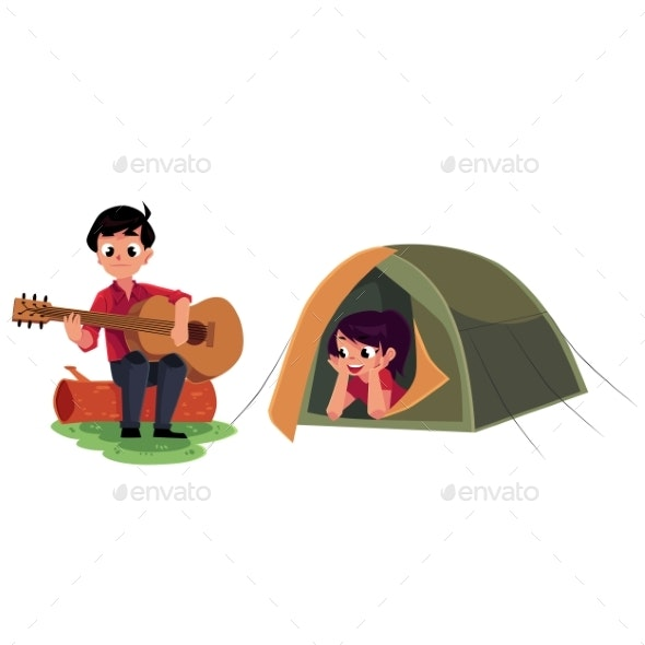 Camping Kids - People Characters