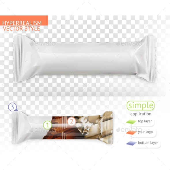 Chocolate Bar White Packaging - Man-made Objects Objects