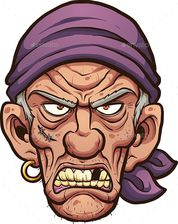 Angry Pirate - People Characters
