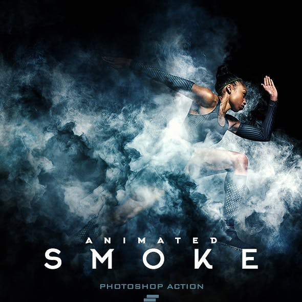 Gif Animated Smoke Photoshop Action
