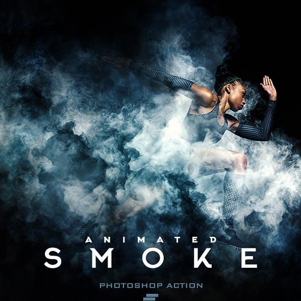 Gif Animated Smoke Photoshop Action