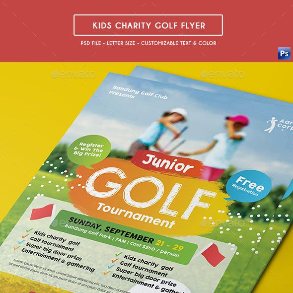 Kids Charity Golf Flyer