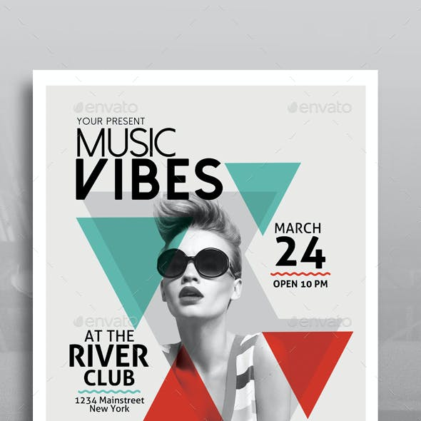 Minimal Music Flyer Template