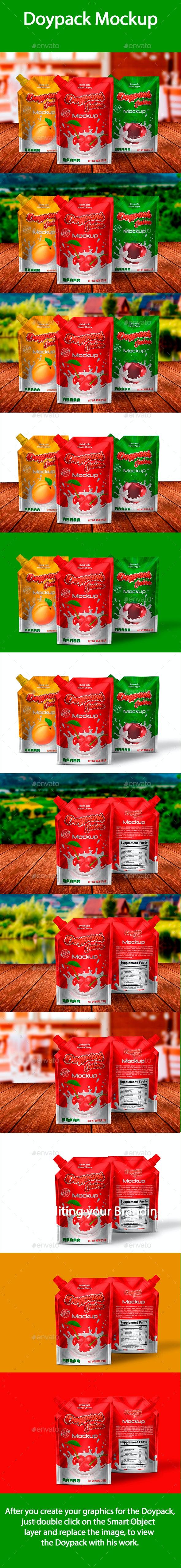 Doypack Mockup - Food and Drink Packaging