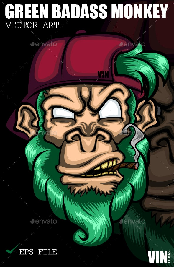 Green Badass Monkey - Miscellaneous Characters