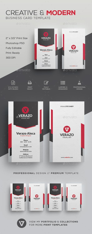 Creative & Modern Business Card Template - Corporate Business Cards