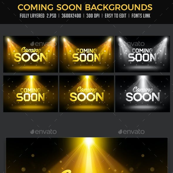 Coming Soon Backgrounds