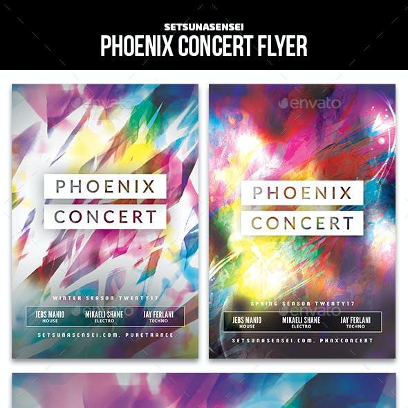 Phoenix Concert Flyer