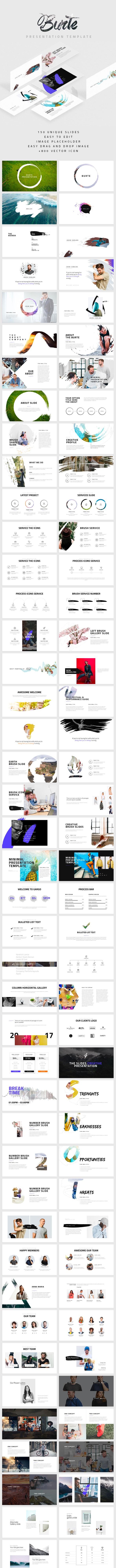 Burte Powerpoint Template - Abstract PowerPoint Templates