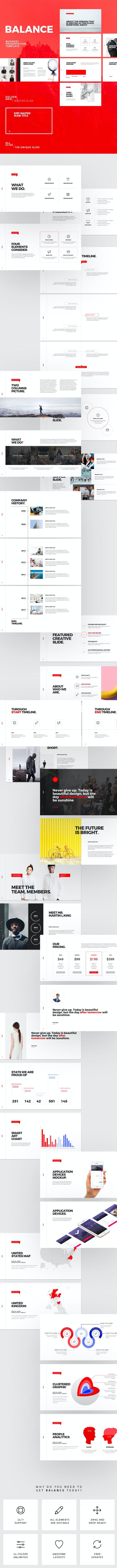 Balance Powerpoint Template - Business PowerPoint Templates