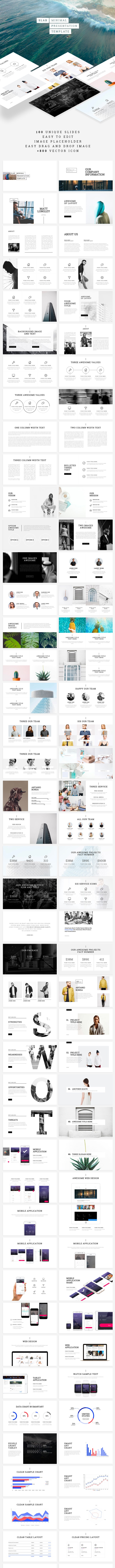 Slab Keynote Template - Business Keynote Templates