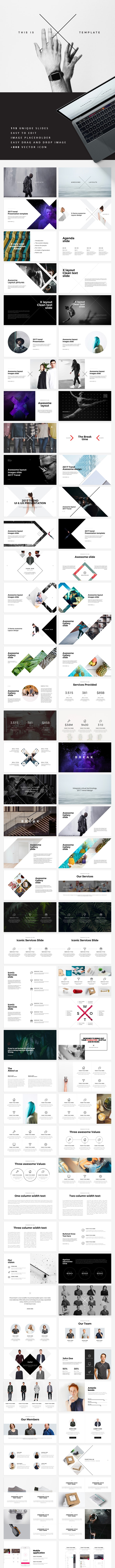 X Keynote Template - Creative Keynote Templates