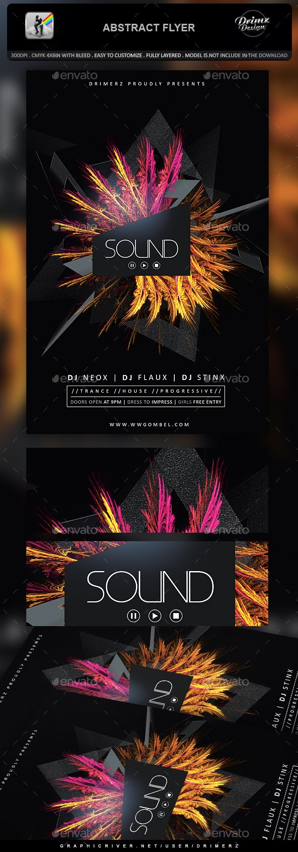 Abstract Flyer - Events Flyers