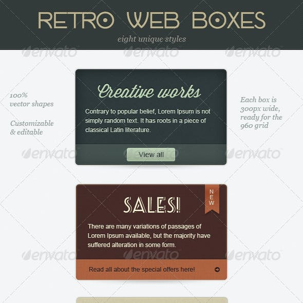 Retro Web Boxes